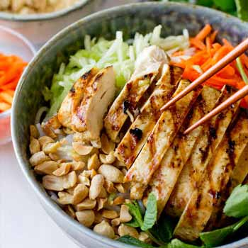 Chicken Vermicelli Bowl
